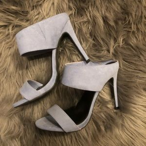 Forever 21 light blue strappy heels.
